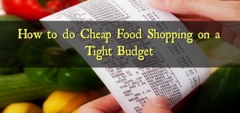 How to do Cheap Food Shopping on a Tight Budget