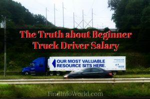 Beginner Truck Driver Salary